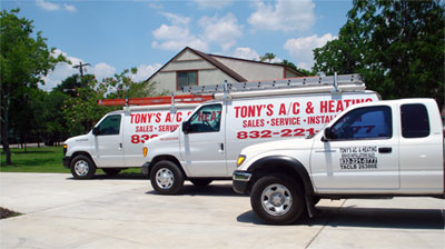 Tony's A/C and Heating Van Fleet